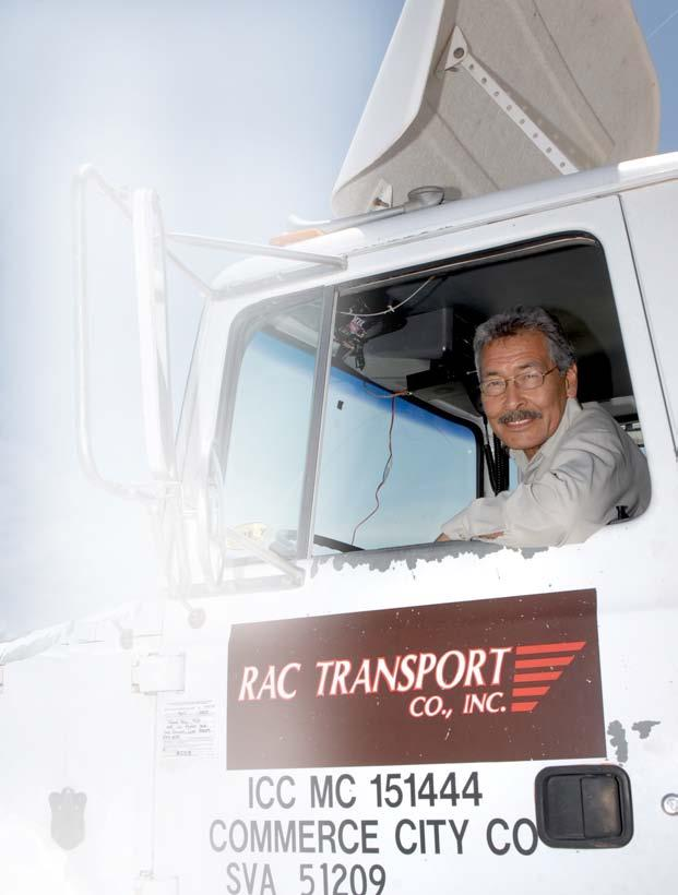 David Arballo RAC Transport WRITTEN AND PHOTOGRAPHED BY JOE BURGESS I I always wanted to drive a truck, says David Arballo of RAC Transport.