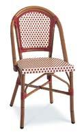 AC3501N01RAT Dining Sidechair, Stackable Wicker: Ivory &