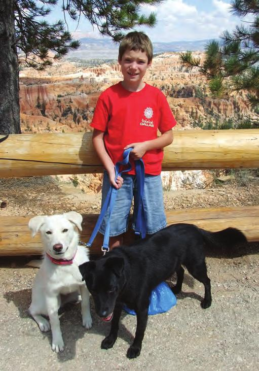 This is me with CJ and Coal at Bryce Canyon in August.
