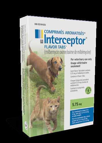 INTERCEPTOR Interceptor Flavor Tabs Get trusted, broad spectrum internal parasite control for pets young and old with Interceptor Flavor Tabs Active ingredient: Milbemycin oxime Dogs and cats Dogs: