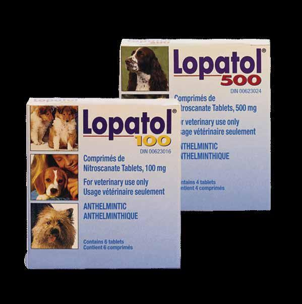 LOPATOL Lopatol Tablets Eliminate tapeworms in dogs along with other common intestinal parasites with Lopatol Active ingredient: Nitroscanate Dogs Treatment of infestations caused by: roundworm