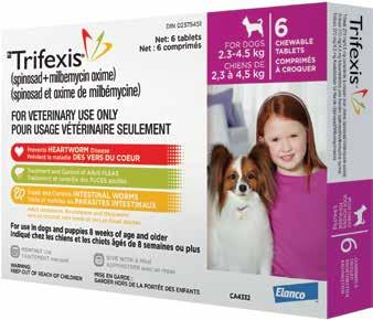 roundworms (Toxocara canis and Toxascaris leonina) adult whipworm (Trichuris vulpis) Starts killing fleas within 30 minutes Orally administered Can be used on dogs and puppies 8 weeks of age or older