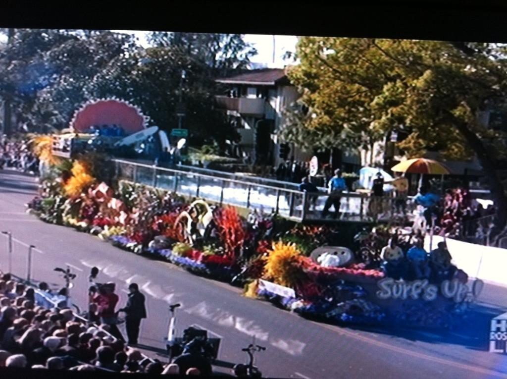 News from the AKC SURFING DOG FLOAT BREAKS WORLD RECORD AT THIS YEAR s ROSE PARADE By: Randa Kriss January 3, 2017 At this year's Rose Parade in Pasadena, Calif.