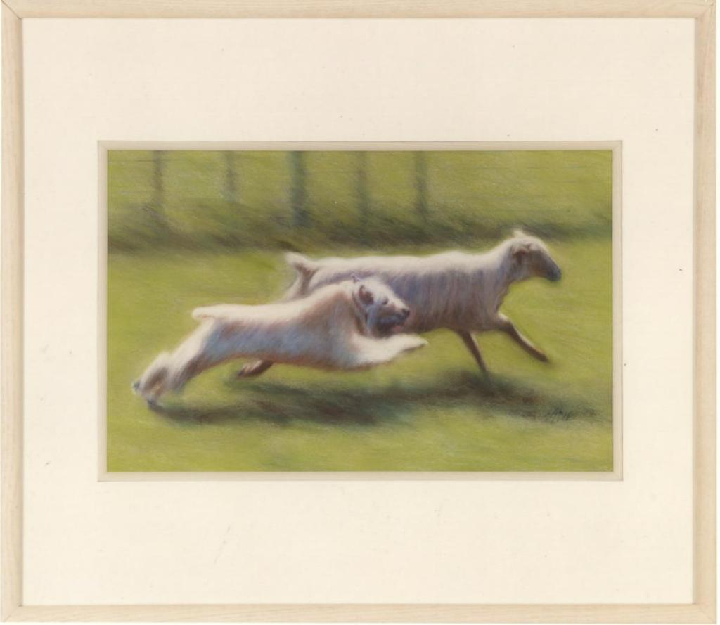 "Figure 4. Ewe Can't Win, by Suzanne Stone, Pastel 1st place and ""Best in Show,"" Dog Fancier's Art Competition 2005, NewYork, NY Bibliography Bonham, Margaret H."
