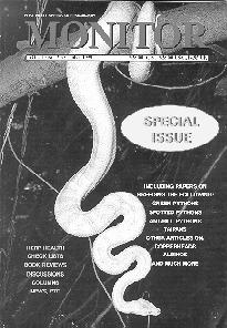 MONITOR - Journal of The Victorian Herpetological Society 11 (1) December,2000 Back