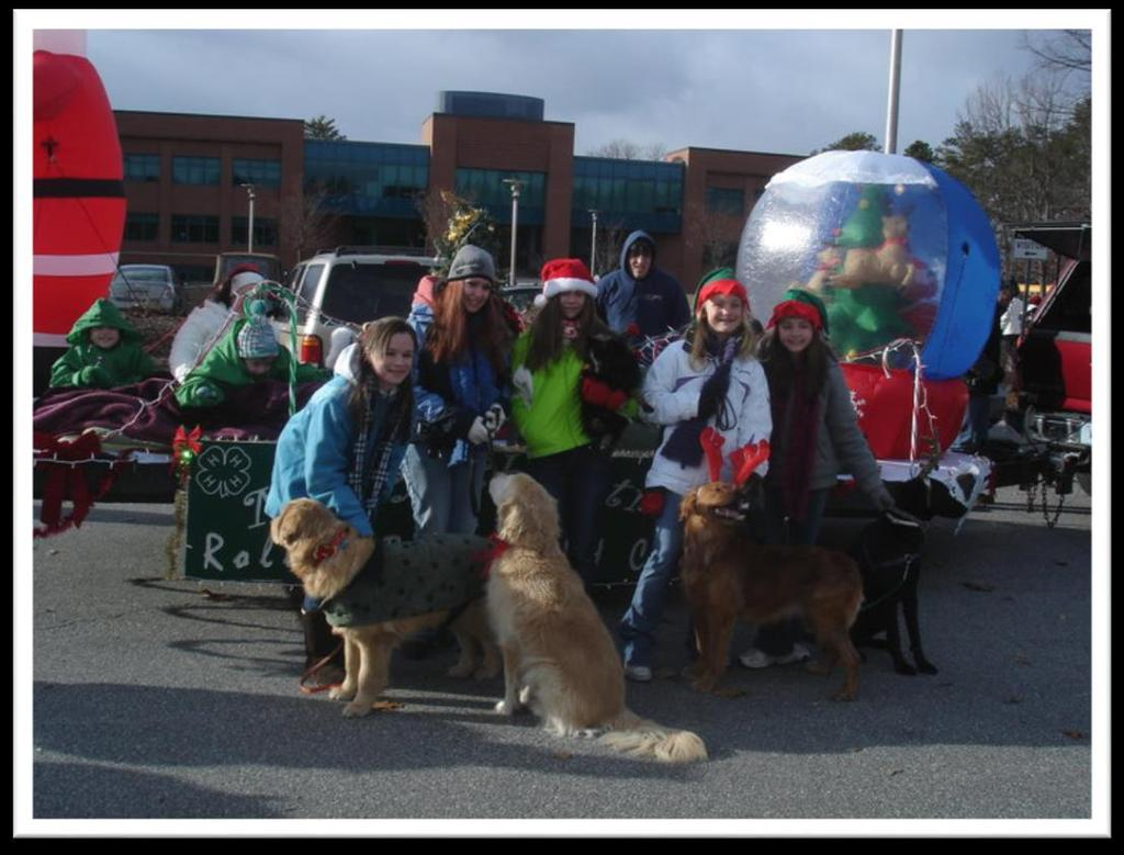 with their dogs. When? Usually the weekend before thanksgiving Where? Concord NH Who?