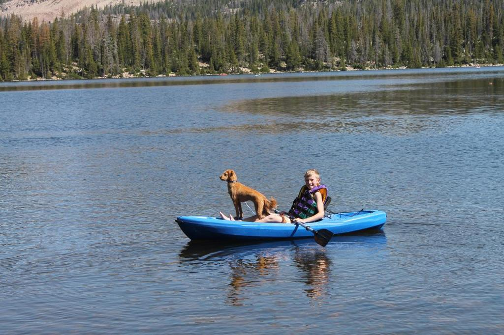 Man s Best Friend Joshua Mumford kayaking with Ginger the dog. Dogs and humans have been together for thousands of years.