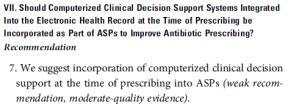 resources are available, computerized clinical decision support tools can be effective in guiding prescribing.