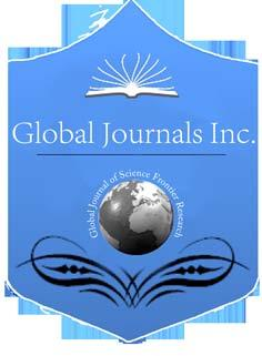 Global Journal of Science Frontier Research: Agriculture and Veterinary Volume 15 Issue 7 Version 1.