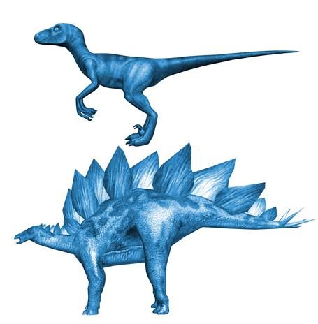 Dinosaurs in the lizard-hipped Saurischia group are divided into two groups: Theropoda fearsome, bipedal carnivores.