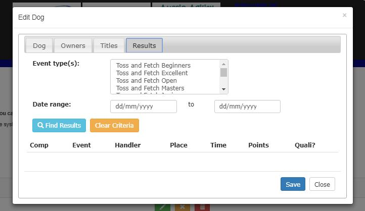 You can also refine the results by searching between certain dates via the Date range: input fields.