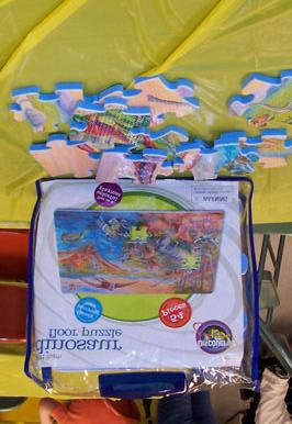 Dinosaur Puzzle: Description: Allows participant to be creative and make their own dinosaur puzzle for themselves and others to put together.