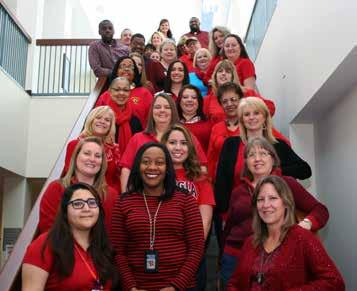 February 16 Facilities Maintenance from page 1 We wore red to unite against heart disease. with getting the job done in the most cost-effective manner.