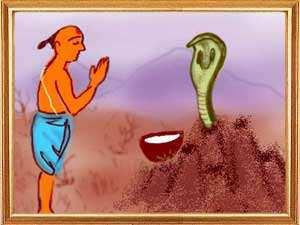 The Brahmin and The Cobra aridatta was a Brahmin who was very poor. He was a farmer but the piece of land he cultivated gave him very little to survive.