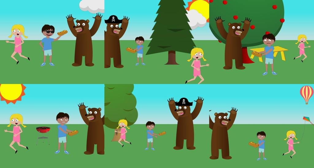 Mike fights off a bear by giving