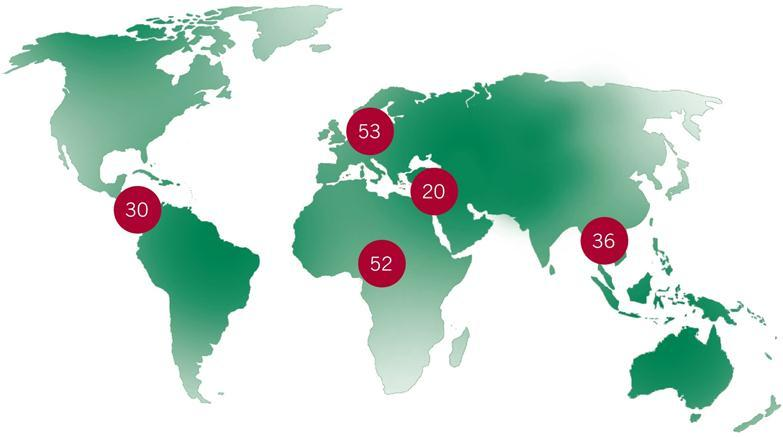 The OIE in a nutshell 178 Member Countries in 2013 Europe Asia, the Far