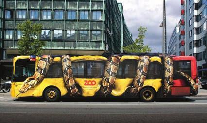 137 Snake Crushes Bus The Copenhagen Zoo in Denmark has designed one of the most intriguing advertising campaigns: a Boa Constrictor constricting a city bus.