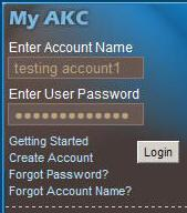 Overview of Online Record Keeping Once you have created an account and registered with the AKC, you can login and manage your dogs and breeding records. Type www.akc.
