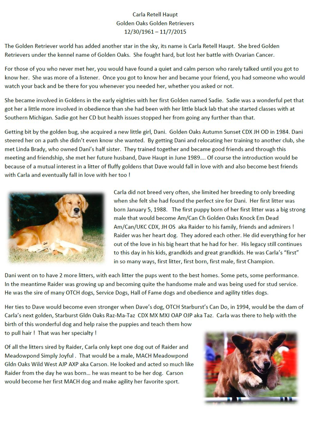 MICHIGOLDEN NEWSLETTER Page 7