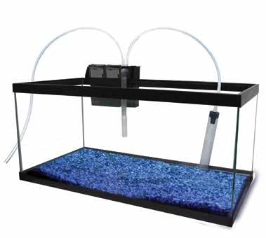 EZ CLEAN EXTERNAL FILTER FOR FRESHWATER AND SALTWATER AQUARIUMS NEW INNOVATION 1 INNOVATIVE WATER-CHANGE FEATURE 2 BUILT-IN GRAVEL
