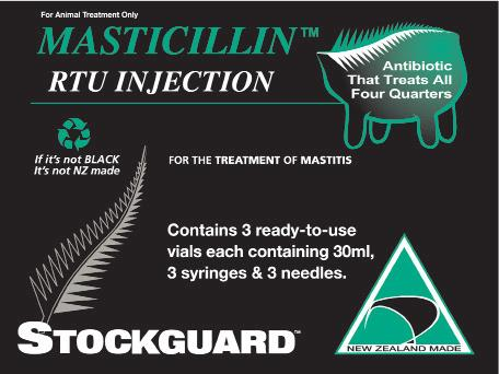 Masticillin TM RTU Injection A sterile, aqueous suspension containing 15 million i.u. micronised procaine penicillin G in an aqueous suspension formulated for extended activity.