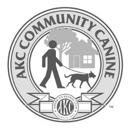number, PAL or AKC Canine Partners number) and already have a Canine Good Citizen award/title on record with the AKC.