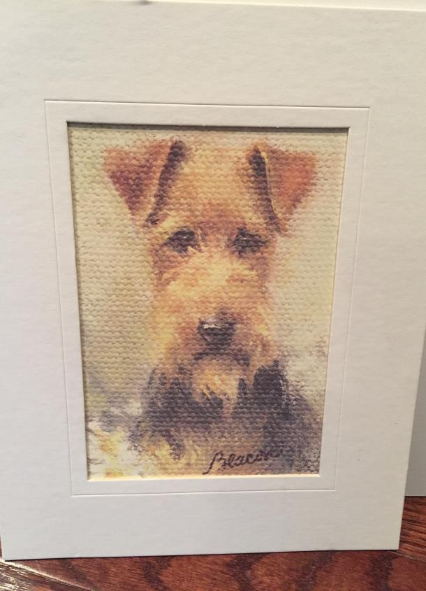 #21. MARY BEACON WELSH TERRIER PORTRAIT Opening bid: $15 This print