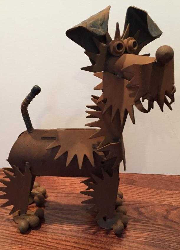 #1. WELSH TERRIER METAL SCULPTURE Opening bid: $40 This comical sculpture is near life size and quite heavy!