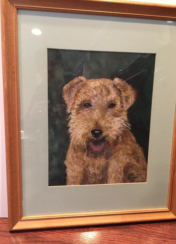 #5. PORTRAIT OF A WELSH TERRIER BY J PRUNEAU Opening bid: $40 This
