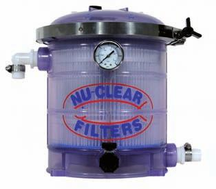The Rapids Canister Filter has a self priming, top mounted sealed motor with a flow rate of 80gph.