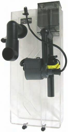 Just hang the unit behind the aquarium, plug it in, and it goes to work. Designed for tanks up to 60 gal, but multiple units may be used successfully in larger aquariums.
