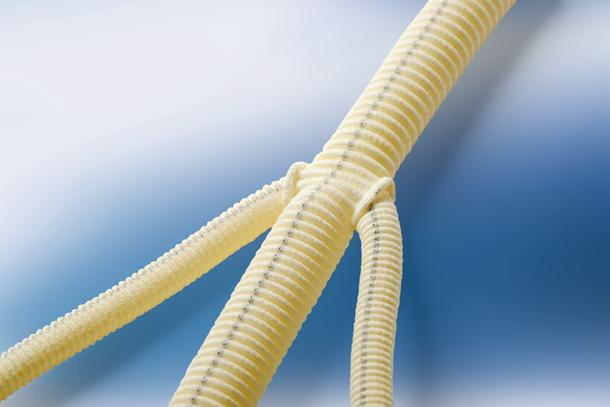 Knitted Vascular Grafts HEMAGARD Knitted Trifurcated/Quadrifurcated Material: Collagen-coated polyester graft Reverse