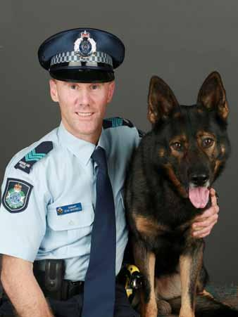 CANINE service awards GSDCA Outstanding Canine Service Awards Police Dog Quinn and Senior Sgt.