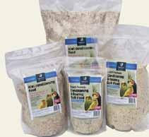 Kiwi Conditioning & Rearing Soft Food A basic version of Soft Food designed to appeal to the cost conscious bird keeper. Ingredients: breadcrumbs, supa protein, oilseed rape, bran, glucose, blue maw.