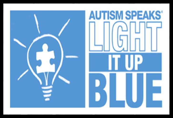 m. We support Autism Speaks with Light It Up Blue, a campaign designed to color the world blue in an effort to increase awareness of the challenges faced by people with autism.