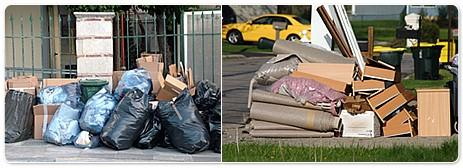 CONTAINERS: Please use disposable containers as they will not be returned. PLACEMENT: All materials to be picked up must be placed on the curb line no later than 8:30 a.m. on the day scheduled for your area s pick up.