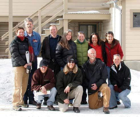 Yellowstone Wolf Project 15 WOLF MANAGEMENT Wolf Project staff and winter study volunteers. Front row, from left: Matt Metz, Scott Laursen, Tim Hudson, Angela Jardine.