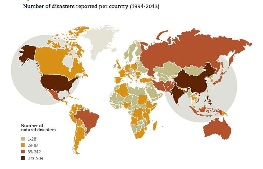 Worldwide occurrence Source: Center for Research on the Epidemiology of