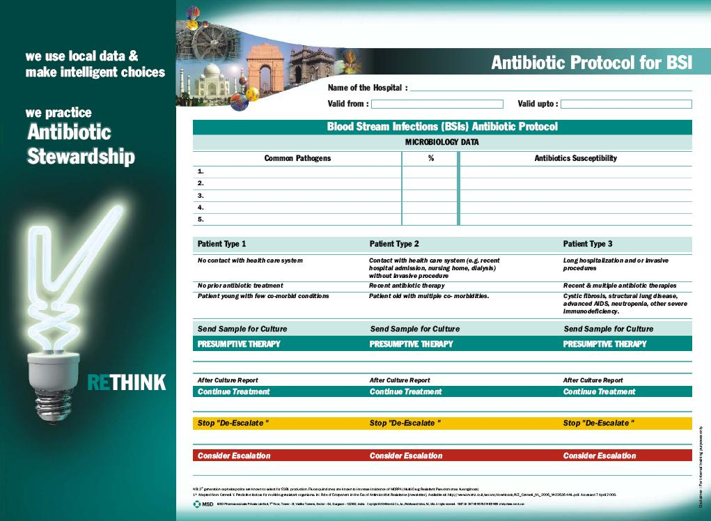 Antimicrobial Stewardship brings hospital specific protocols to the patient bedside to enable evidence based treatment