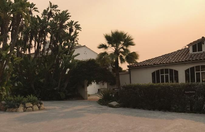 Even though the Casa was located on a stretch of East Valley Road that was in the mandatory evacuation zone, it was able to weather the storm.