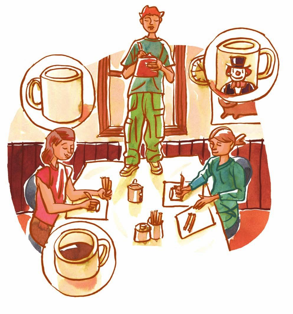Ethics, Religious Culture and Dialogue Unit 1 THE THREE CUPS Look at the three illustrations below. 1 Describe what is happening.