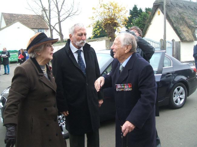 3 December - Report on a new Tempsford Memorial W/Cdr Len Ratcliff, with French agent Bob Maloubier, and Noreen Riols.