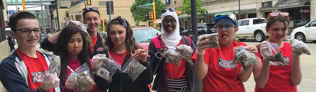 of John Adams Middle School a bounty on cigarette butts picked up