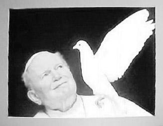 The origin of the dove of peace is in the Old Testament. Noah sends out a pigeon from his ark to see if the earth is still flooded.