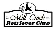 OFFICIAL CANADIAN KENNEL CLUB ENTRY FORM MILL CREEK RETRIEVER CLUB HUNT TESTS, JUNE 11 and 12, 2016 Entry Fees $ Listing Fees $ Lunch $ Meat or Vegetarian Total $ ($6.