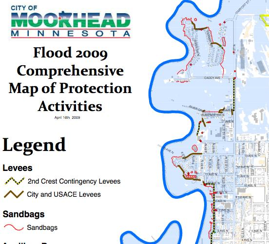 The primary goal of the buyouts was to create open space for the development of flood barriers in the form of levees and floodwalls (Figure 2).
