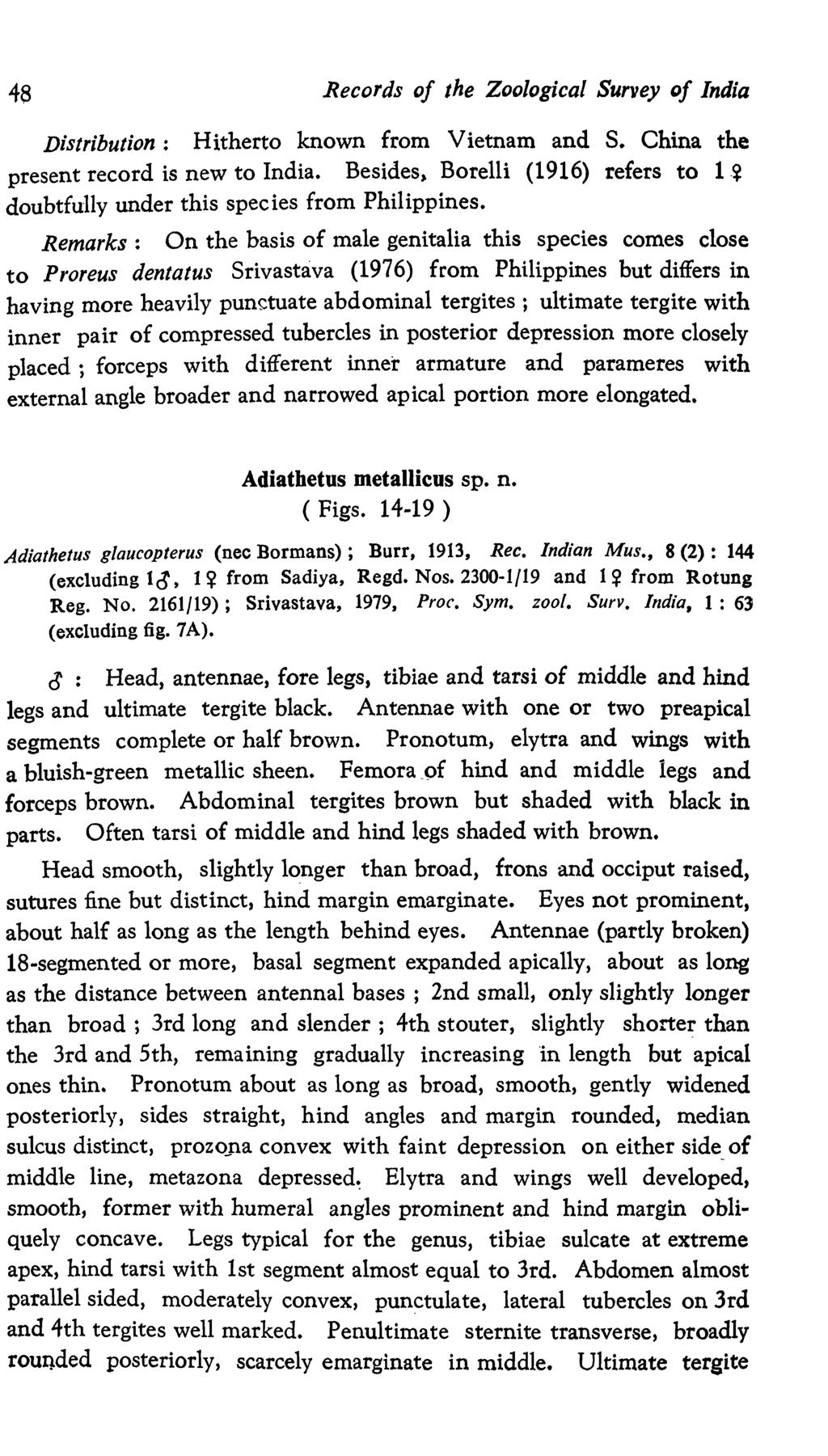 Records Of The Zoological Survey India Pdf Expedition E6661 Silver Black Red Men Original 48 Distribution Hitherto Known From Vietnam And S